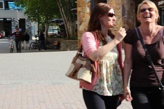 My friends Maja & Grace in Whistler
