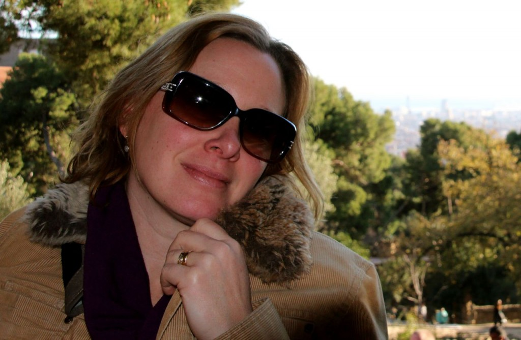Happy me Guell park Barcelona, another Gaudi creation <3