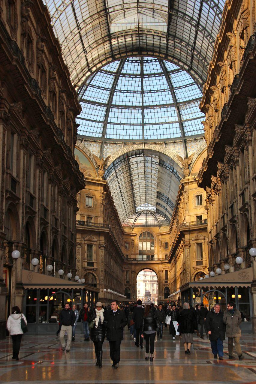 A walking strip in Milan, Italy