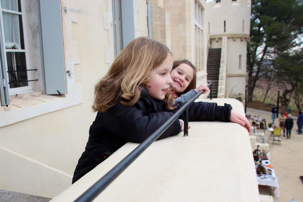 Our kids loved looking around the grounds of La Chateau Des Carrasse