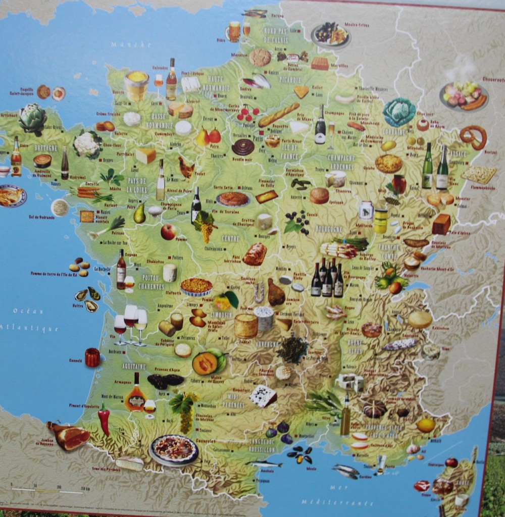 map of France Food