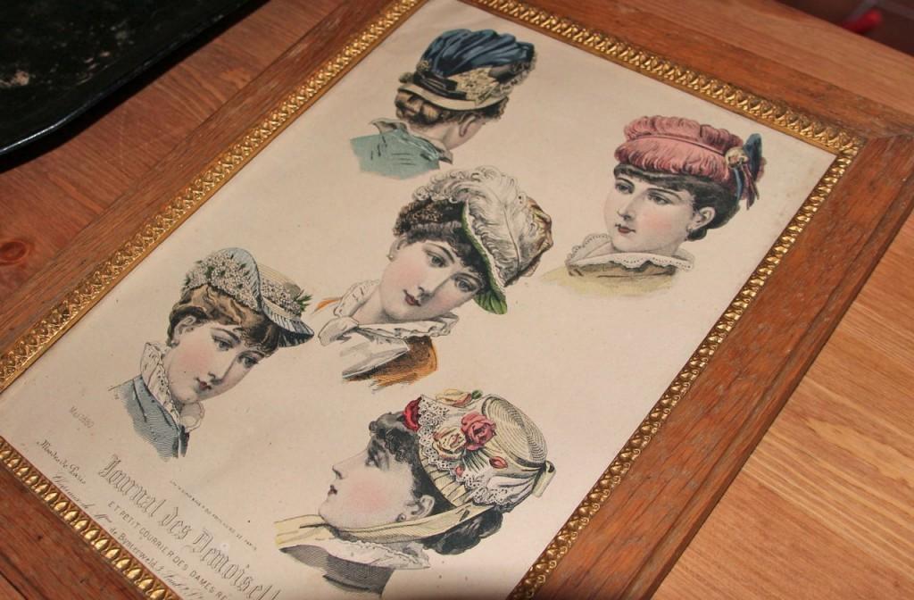 displaying hat fashions 100 years ago