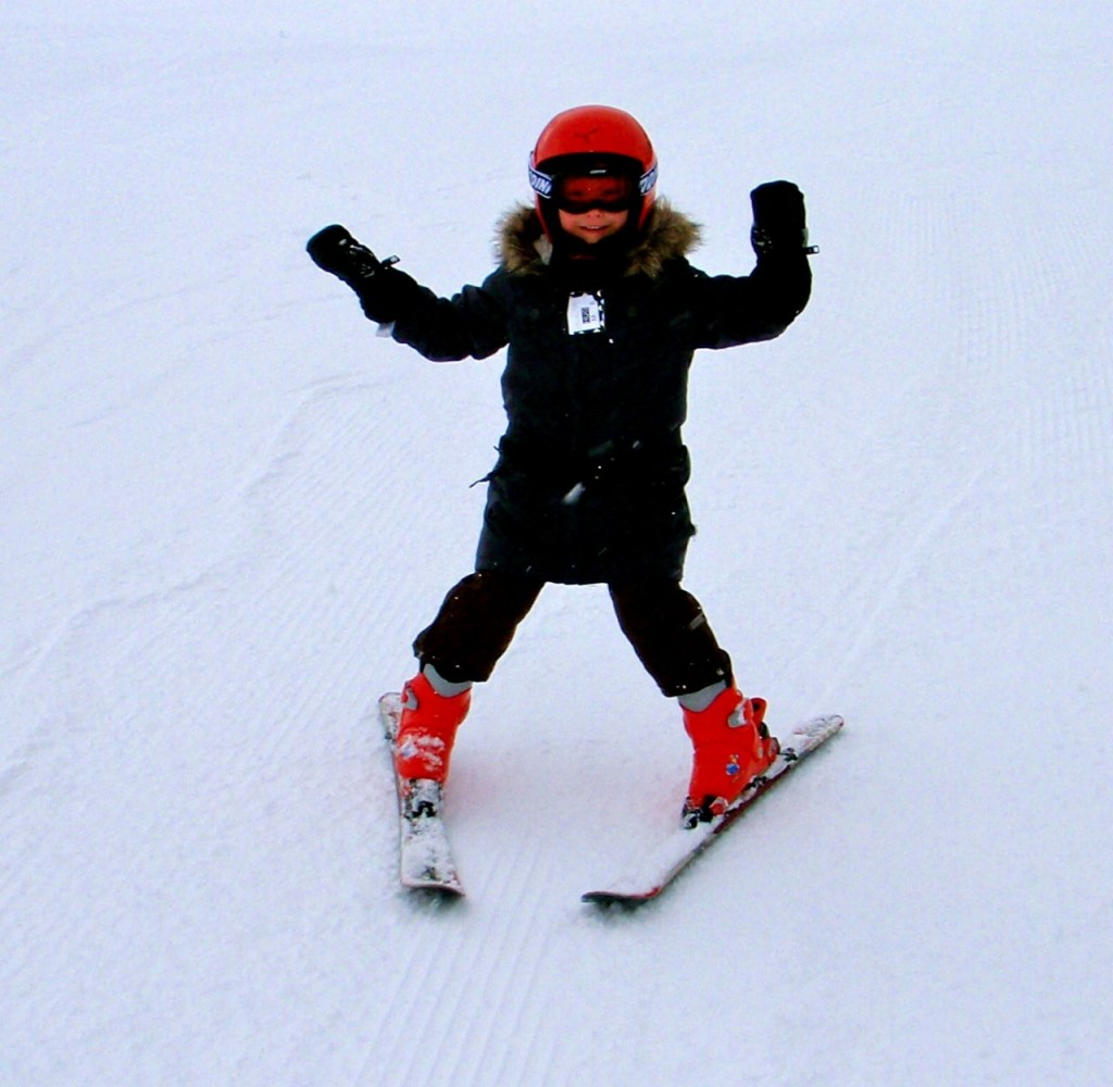 Angelina's first ski lesson