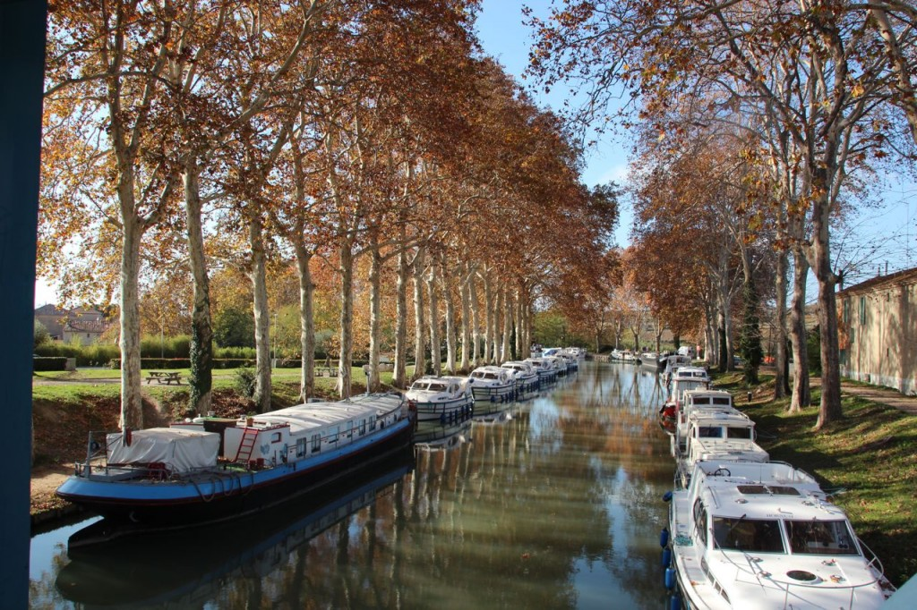 Capestang Bridge View Canal Du Midi