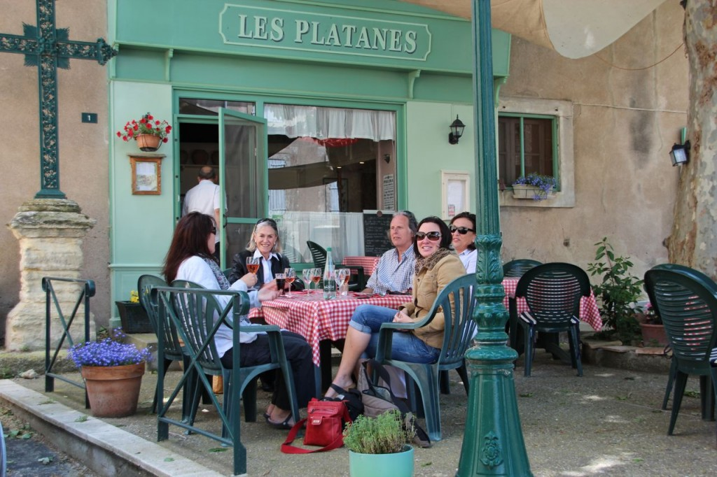 Les Platanes for lunch
