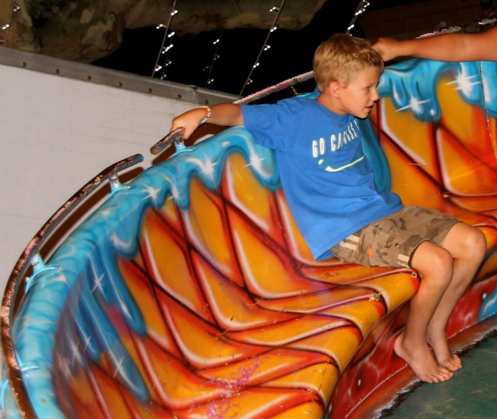 Daniel goes on a big kid ride