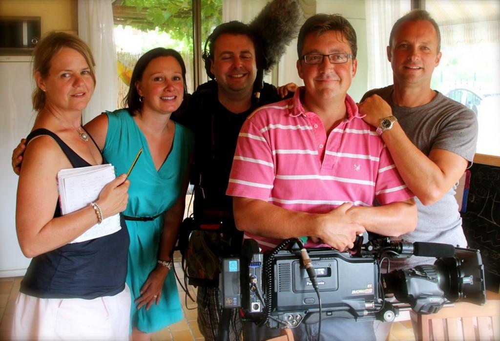 The Hamori's with TV Crew