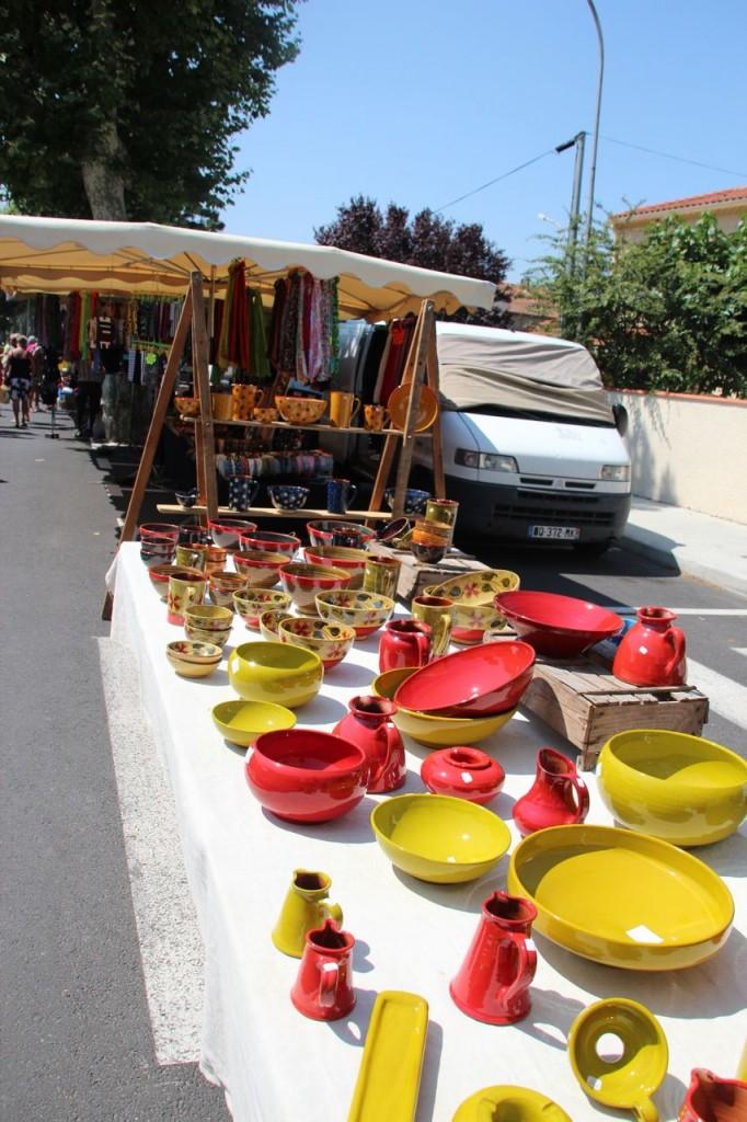 olonzac market pottery