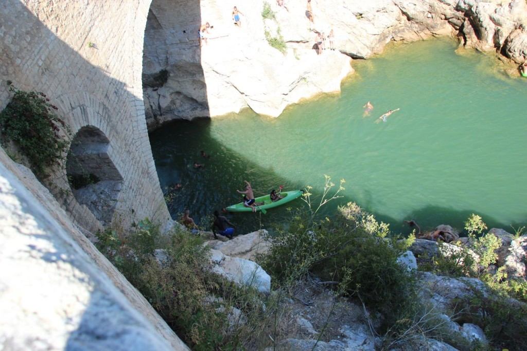 Cliff Jumpers grab canoes and soak them