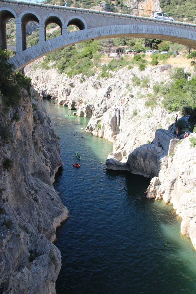 Giant gorge created by the river Herault