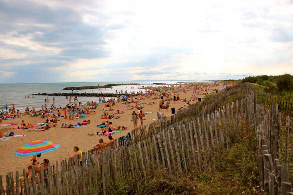 crowded compared to our Narbonne and Valras beaches