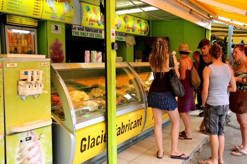 yummy ice-cream along the shopping strip