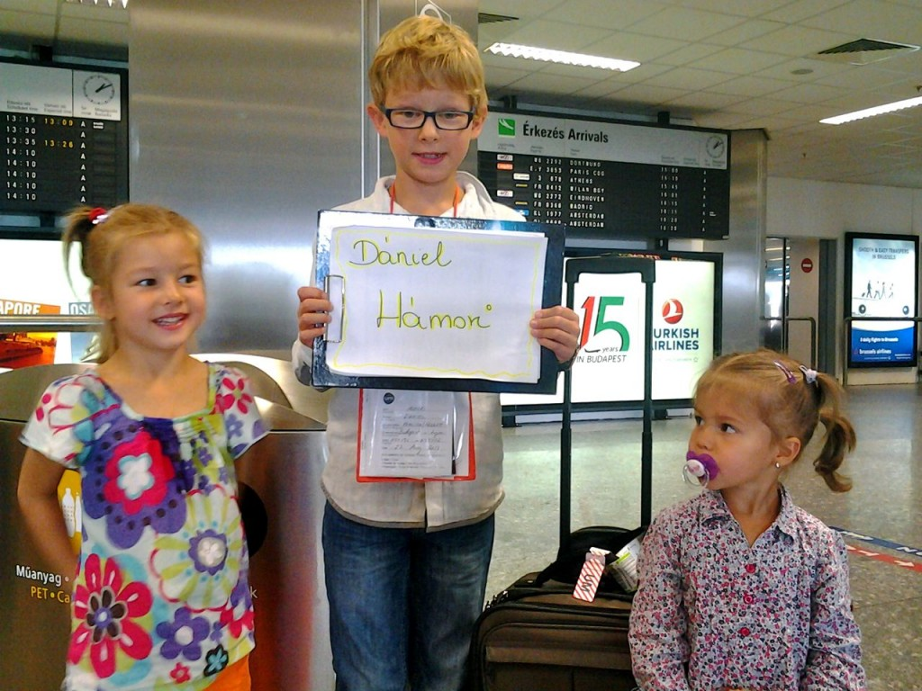 My cousins pick Daniel up at the airport