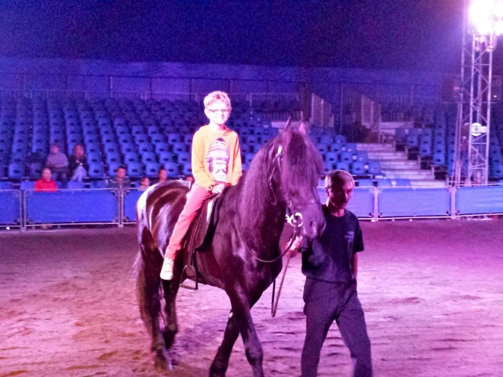 Daniel horseback riding