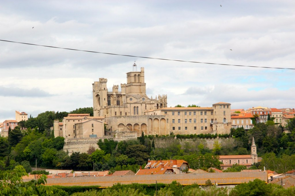 View from the Highway, Saint Nazaires church Beziers