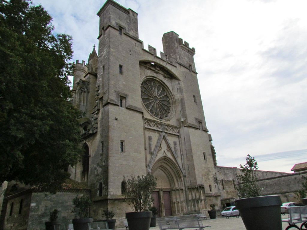 The entrance to the church in Beziers, Saint Nazaire