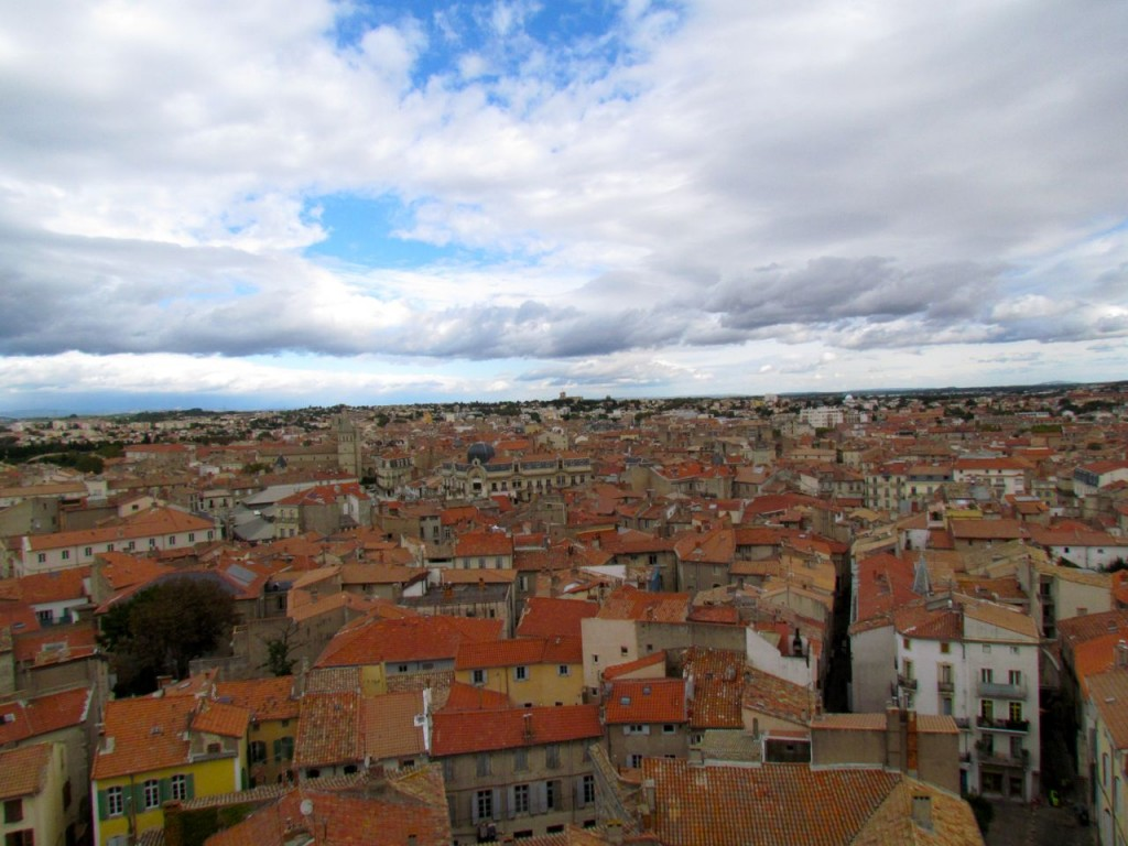 Beziers rooftops view