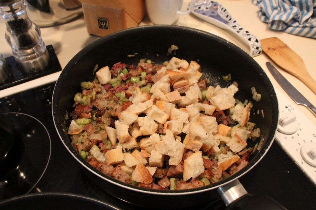Poultry stuffing, so easy even you can do it