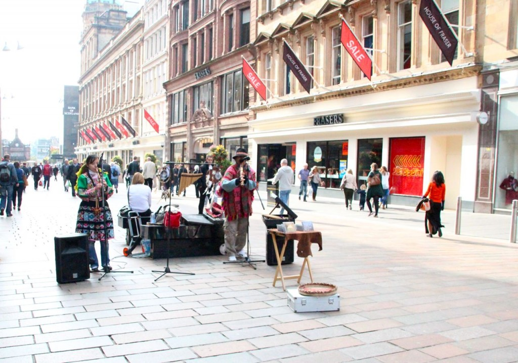Live music on Buchanan Street