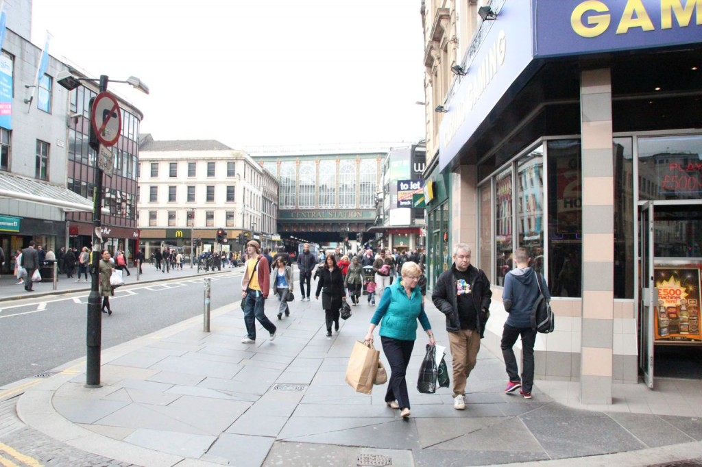 Main drag in Glasgow