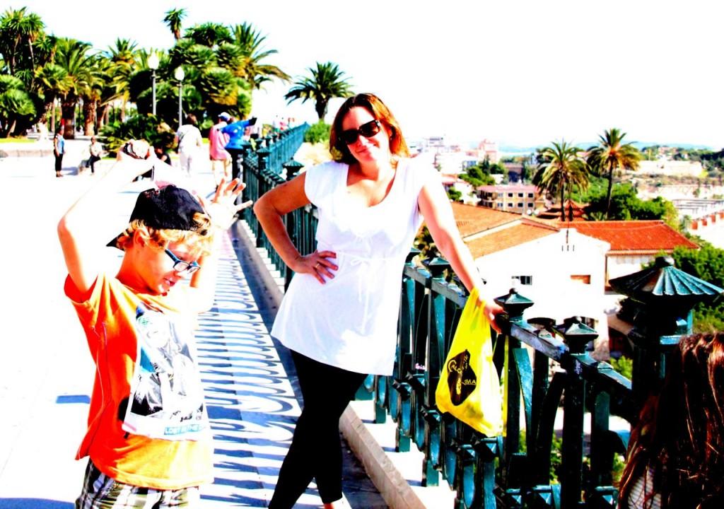 Daniel and Eva pause for a quick photos for Alfonz