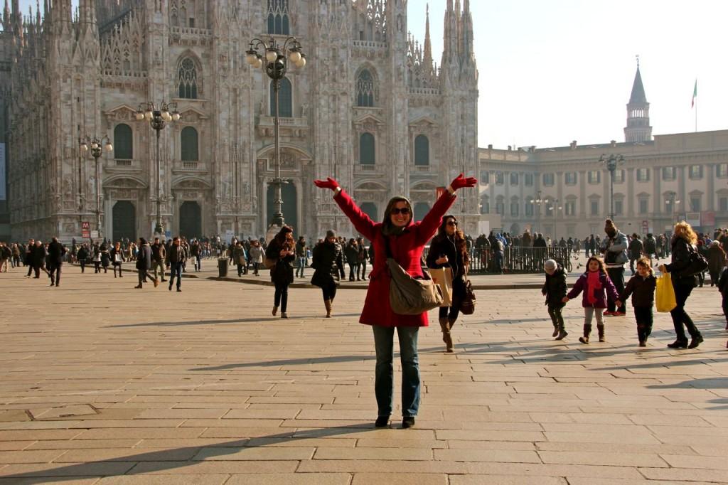 Mom and I visit Milano Italy
