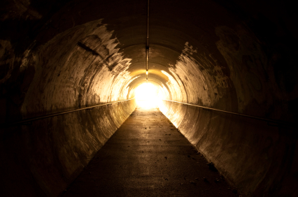 it that a light at the end of the tunnel?