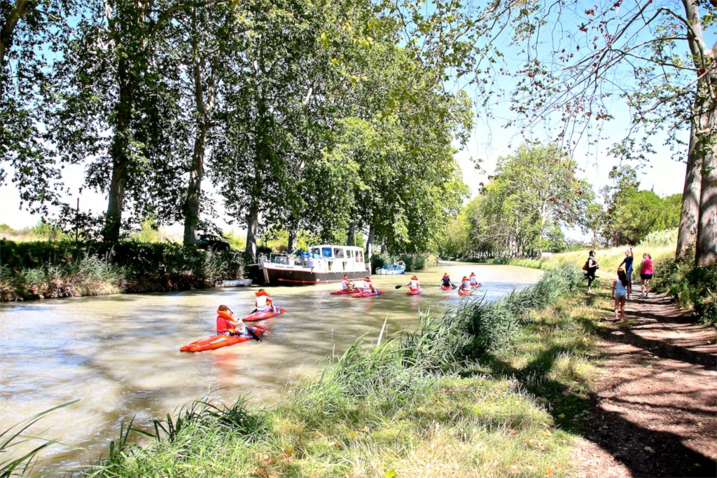 Canoeing on the Canal du Midi