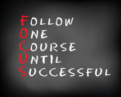 to stay focussed