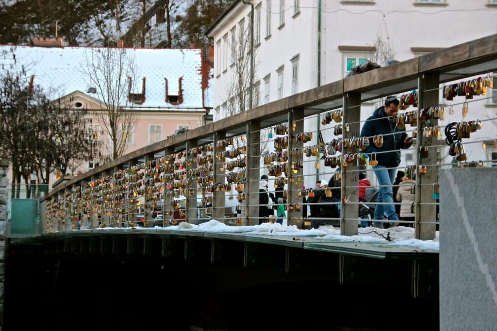 Ljubljana's lovelock bridge