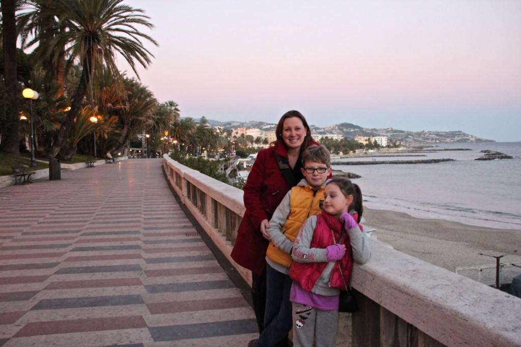 The Hmaori family visits Sanremo