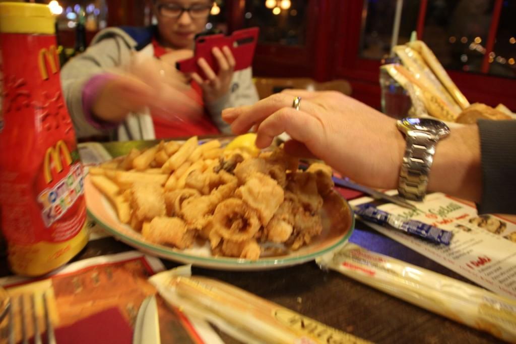 Italian seside calamari
