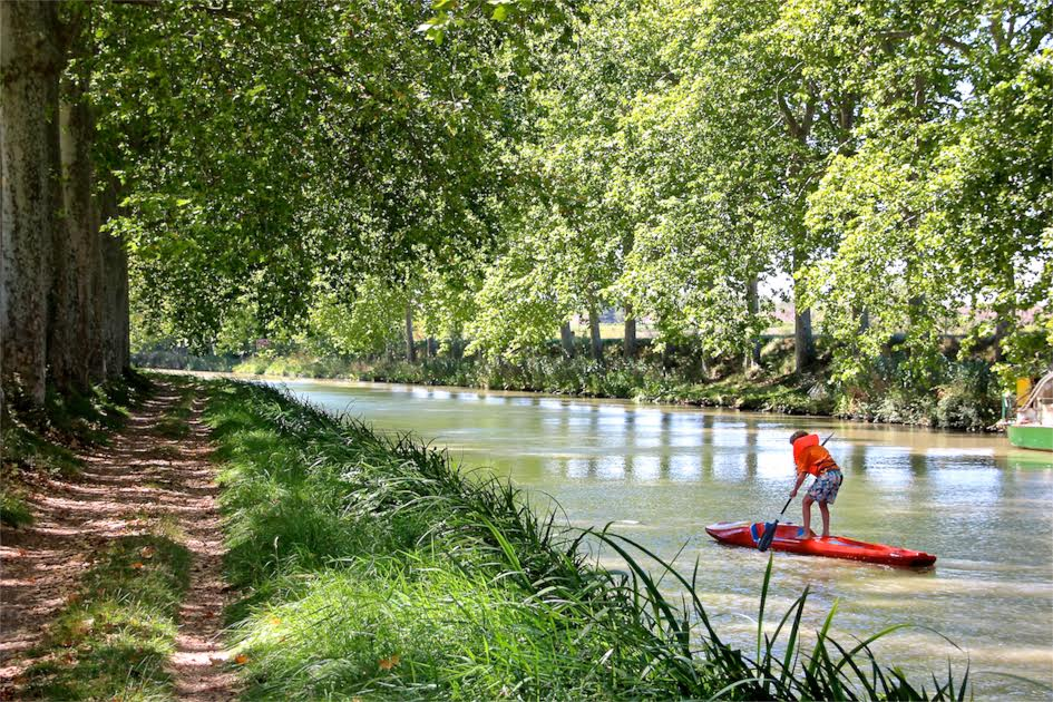 divert in Capestang form the canal path and tale the Voie Verte