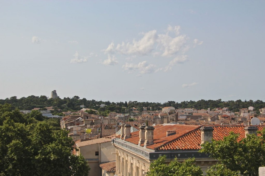 Top of the arena in Nimes