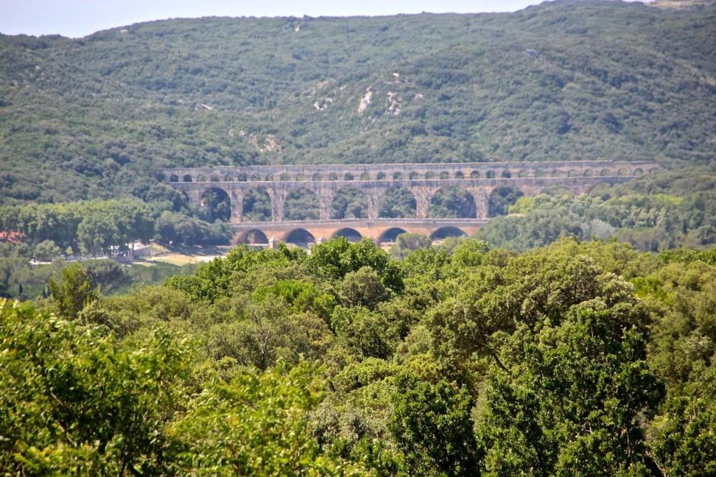 Views of Gard Bridge France
