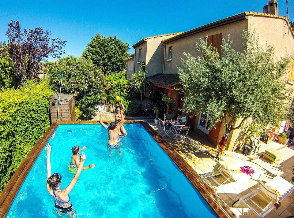 Languedoc family home + pool + gite