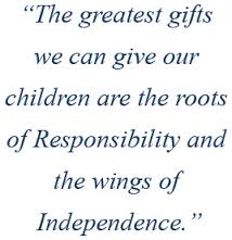 give them roots and wings! Montessori quote