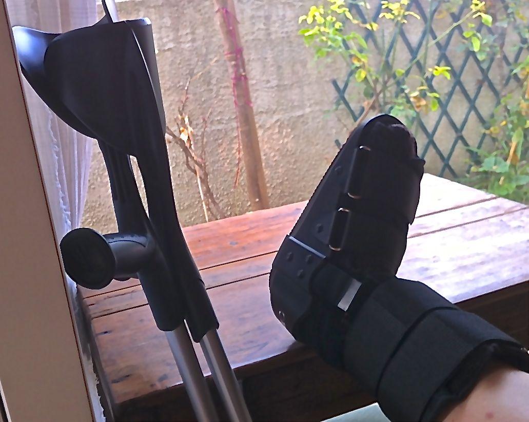 broken foot in sud de france