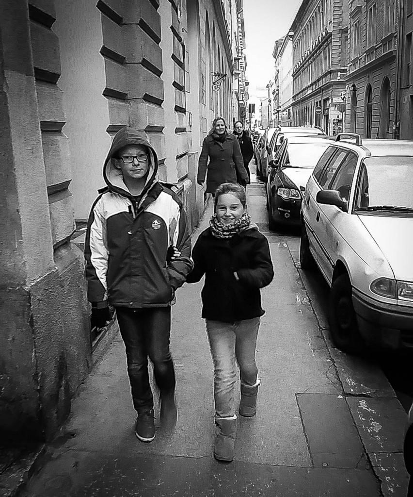 A rare moment, Budapest street