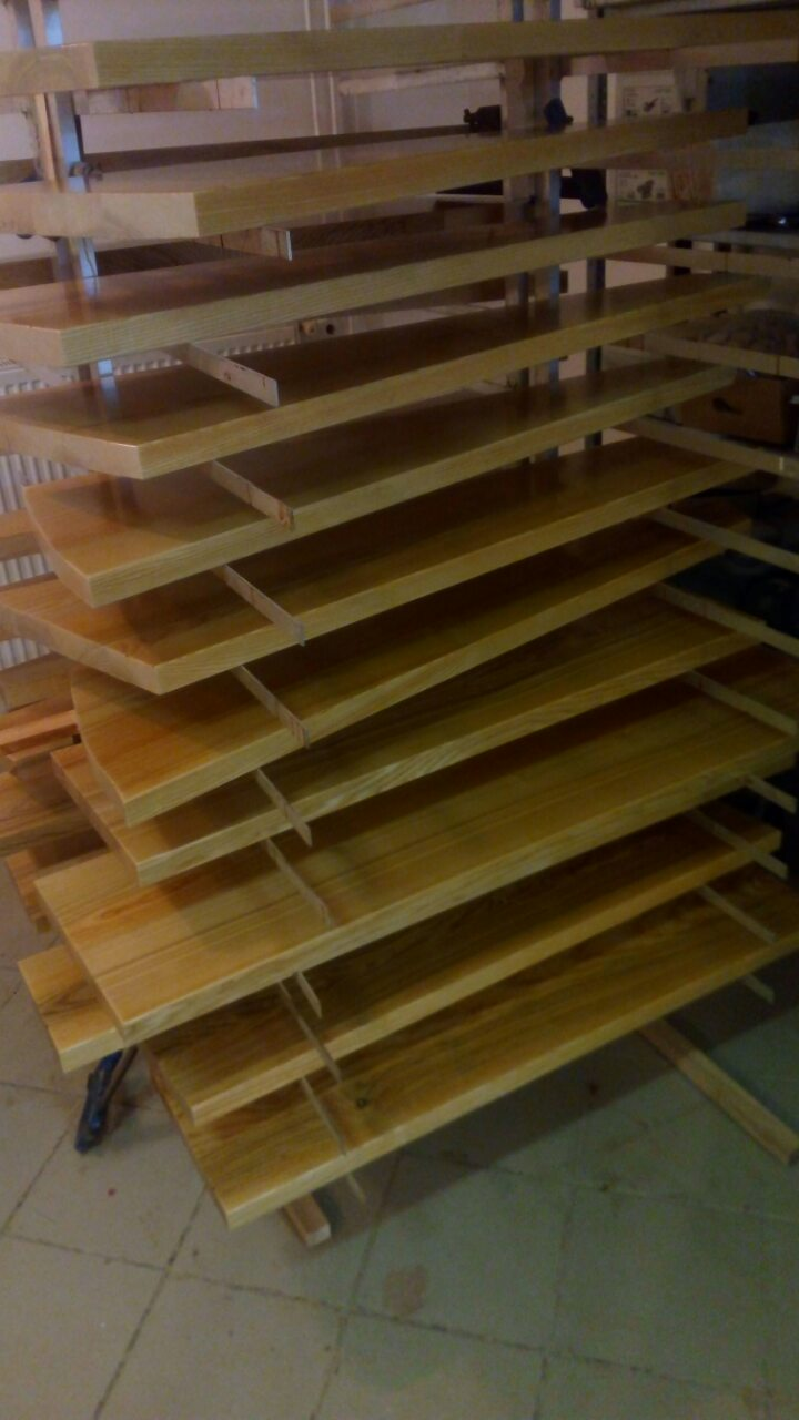 ash wood stairs ready for installation
